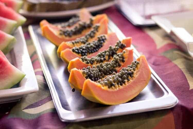 papaya to get rid of unwanted facial hair