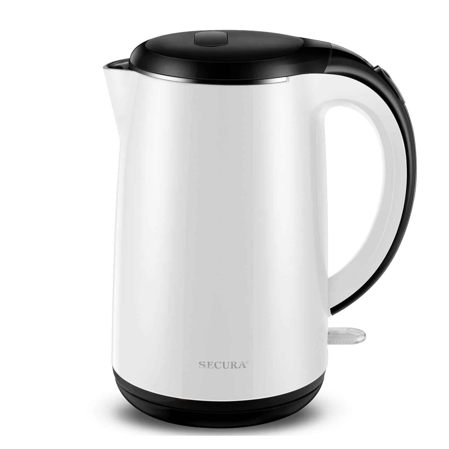 Secura Stainless Steel Double Wall Electric Kettle